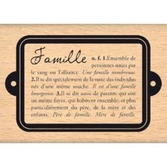 DÉFINITION DE LA FAMILLE