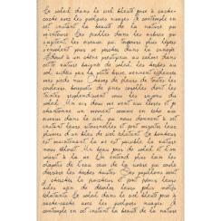 Tampon bois TEXTE MANUSCRIT par Florilèges Design. Scrapbooking et loisirs créatifs. Livraison rapide et cadeau dans chaque c...