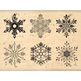 Tampon bois FLOCONS USÉS par Florilèges Design. Scrapbooking et loisirs créatifs. Livraison rapide et cadeau dans chaque comm...