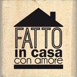 Tampon bois italien FATTO IN CASA par Florilèges Design. Scrapbooking et loisirs créatifs. Livraison rapide et cadeau dans ch...