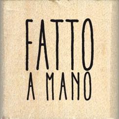 Tampon bois italien PICCOLO FATTO A MANO par Florilèges Design. Scrapbooking et loisirs créatifs. Livraison rapide et cadeau ...