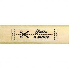 Tampon bois italien ETICHETTA FATTO A MANO par Florilèges Design. Scrapbooking et loisirs créatifs. Livraison rapide et cadea...