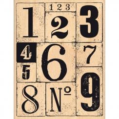 Tampon bois FOND CHIFFRÉ par Florilèges Design. Scrapbooking et loisirs créatifs. Livraison rapide et cadeau dans chaque comm...