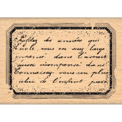 Commandez Tampon bois ÉTIQUETTE D'ÉCOLIER Florilèges Design. Livraison rapide et cadeau dans chaque commande.