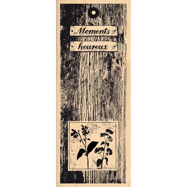 Tampon bois GRANDS MOMENTS HEUREUX