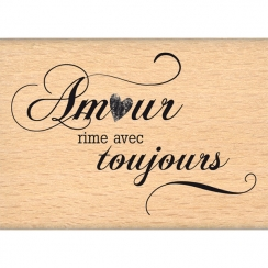 Tampon bois AMOUR TOUJOURS