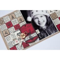 Tampon bois ÉTIQUETTE GRAND RENNE par Florilèges Design. Scrapbooking et loisirs créatifs. Livraison rapide et cadeau dans ch...