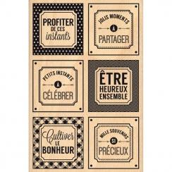 Tampon bois INSTANTS SI PRÉCIEUX par Florilèges Design. Scrapbooking et loisirs créatifs. Livraison rapide et cadeau dans cha...