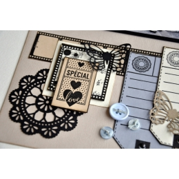 Tampon bois ENTRE NOUS par Florilèges Design. Scrapbooking et loisirs créatifs. Livraison rapide et cadeau dans chaque commande.