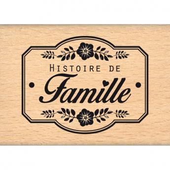 Tampon bois UNE HISTOIRE DE FAMILLE