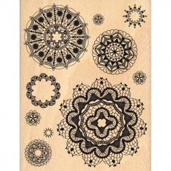 Tampon bois DES NAPPERONS par Florilèges Design. Scrapbooking et loisirs créatifs. Livraison rapide et cadeau dans chaque com...