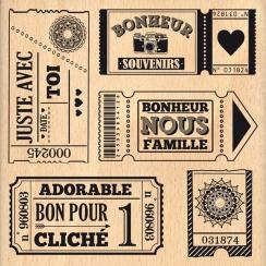 Tampon bois QUELQUES TICKETS par Florilèges Design. Scrapbooking et loisirs créatifs. Livraison rapide et cadeau dans chaque ...