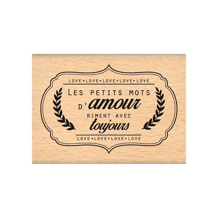 Tampon bois PETITS MOTS D'AMOUR