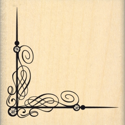 Tampon bois ANGLE FLOURISH