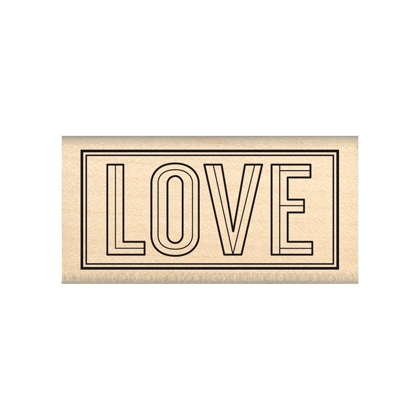 Tampon bois BLOC LOVE