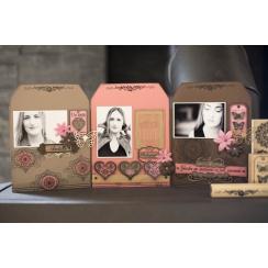 Tampon bois CŒUR DENTELLE par Florilèges Design. Scrapbooking et loisirs créatifs. Livraison rapide et cadeau dans chaque com...