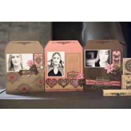 Tampon bois BORDURE FLORALE par Florilèges Design. Scrapbooking et loisirs créatifs. Livraison rapide et cadeau dans chaque c...