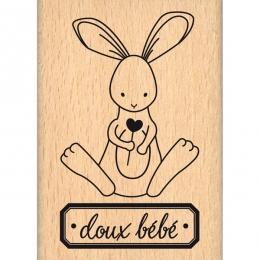 PROMO de -60% sur Tampon bois DOUX BÉBÉ Florilèges Design