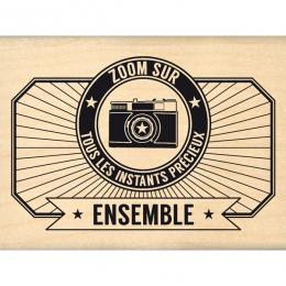 Tampon bois TOUS LES INSTANTS PRÉCIEUX par Florilèges Design. Scrapbooking et loisirs créatifs. Livraison rapide et cadeau da...