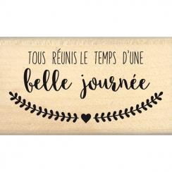 Commandez Tampon bois TOUS RÉUNIS Florilèges Design. Livraison rapide et cadeau dans chaque commande.