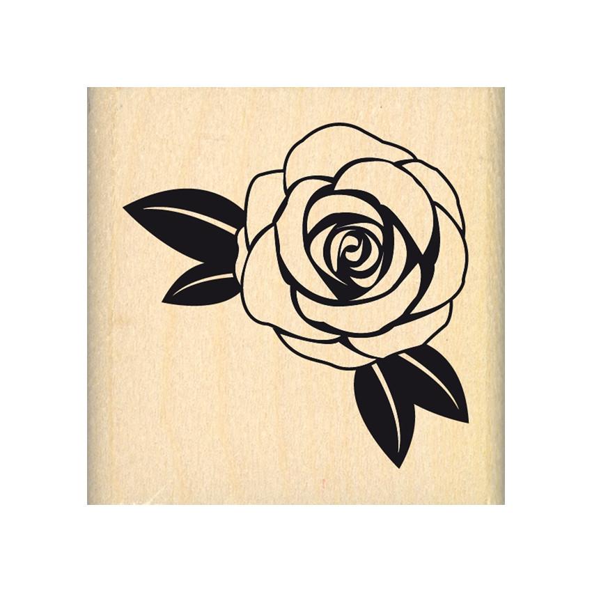 PROMO de -99.99% sur Tampon bois ROSE BLANCHE Florilèges Design