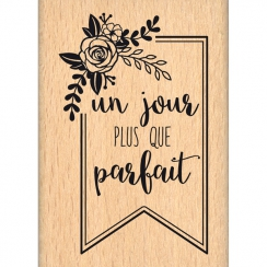 Tampon bois PLUS QUE PARFAIT par Florilèges Design. Scrapbooking et loisirs créatifs. Livraison rapide et cadeau dans chaque ...