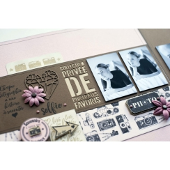 PROMO de -40% sur Tampon bois TRIO PHOTOS Florilèges Design