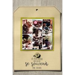 Tampon bois POUR TOUJOURS par Florilèges Design. Scrapbooking et loisirs créatifs. Livraison rapide et cadeau dans chaque com...