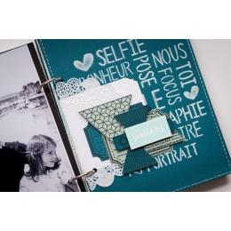 Pochoir SELFIE BONHEUR par Florilèges Design. Scrapbooking et loisirs créatifs. Livraison rapide et cadeau dans chaque commande.