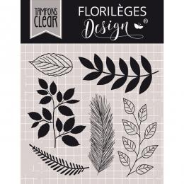 Tampons clear MIX DE FEUILLAGES par Florilèges Design. Scrapbooking et loisirs créatifs. Livraison rapide et cadeau dans chaq...