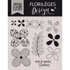 PROMO de -60% sur Tampon clear QUELQUES FLEURS Florilèges Design