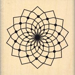 Tampon bois GRANDE FLEUR DE RÊVE par Florilèges Design. Scrapbooking et loisirs créatifs. Livraison rapide et cadeau dans cha...