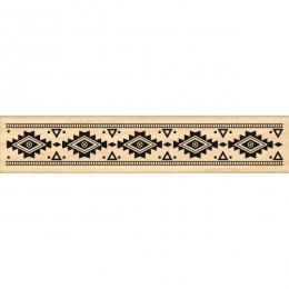 Tampon bois GALON AZTÈQUE par Florilèges Design. Scrapbooking et loisirs créatifs. Livraison rapide et cadeau dans chaque com...