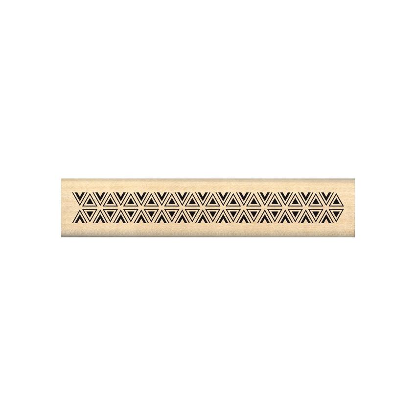 Tampon bois BORDURE DE TRIANGLES