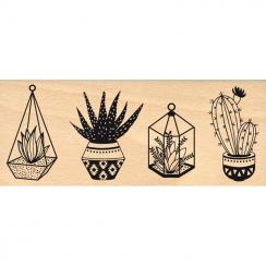 Tampon bois PETITES PLANTES par Florilèges Design. Scrapbooking et loisirs créatifs. Livraison rapide et cadeau dans chaque c...