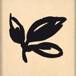 PROMO de -99.99% sur Tampon bois TROIS FEUILLES Florilèges Design