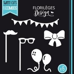 Outils de découpe EN FÊTE par Florilèges Design. Scrapbooking et loisirs créatifs. Livraison rapide et cadeau dans chaque com...