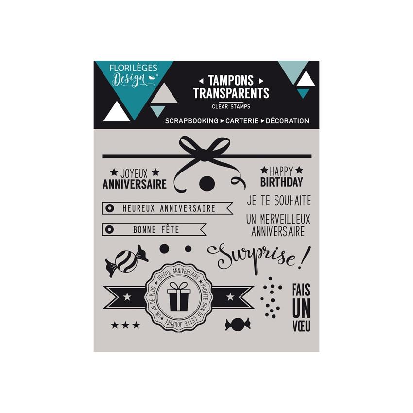 Tampons clear SURPRISE ! - Capsule Octobre par Florilèges Design. Scrapbooking et loisirs créatifs. Livraison rapide et cadea...