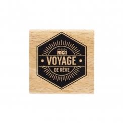 Tampon bois VOYAGE DE RÊVE par Florilèges Design. Scrapbooking et loisirs créatifs. Livraison rapide et cadeau dans chaque co...