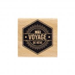 PROMO de -99.99% sur Tampon bois VOYAGE DE RÊVE Florilèges Design