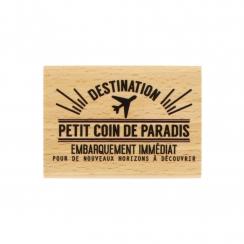 Tampon bois COIN DE PARADIS - Capsule Août