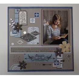 Tampon bois DÉLICIEUX MOMENTS par Florilèges Design. Scrapbooking et loisirs créatifs. Livraison rapide et cadeau dans chaque...
