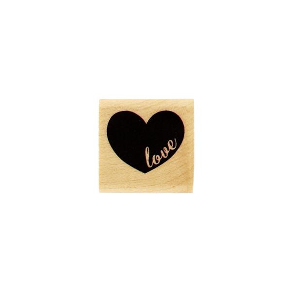 Tampon bois MINI COEUR LOVE