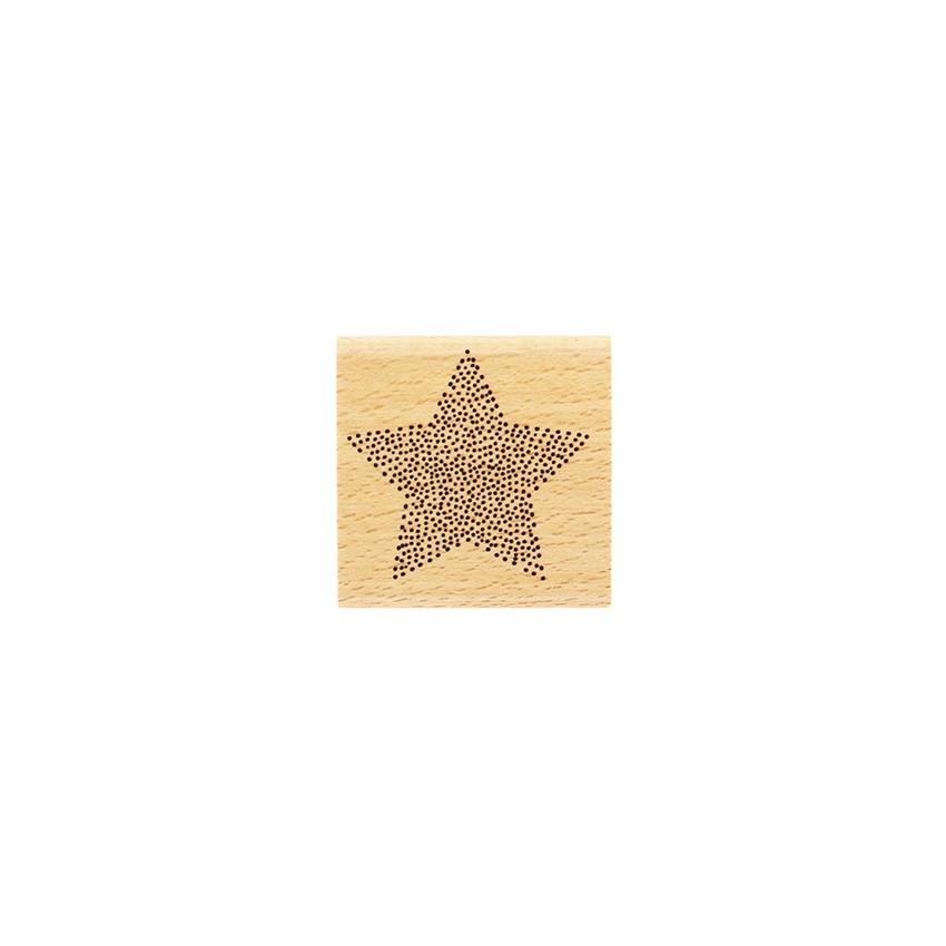 Tampon bois ÉTOILE EN POINTS