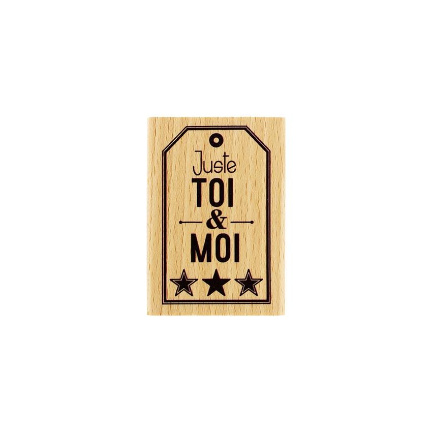 PROMO de -99.99% sur Tampon bois TOI ET MOI ÉTOILÉ Florilèges Design