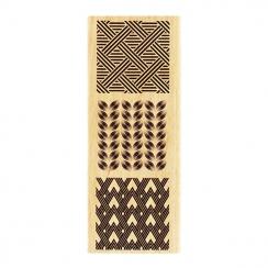 Tampon bois TROIS CARRÉS DÉCO par Florilèges Design. Scrapbooking et loisirs créatifs. Livraison rapide et cadeau dans chaque...