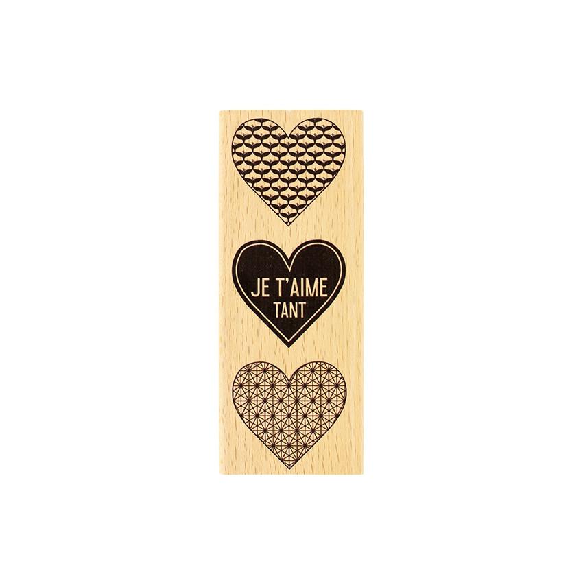 PROMO de -99.99% sur Tampon bois JE T'AIME TANT Florilèges Design
