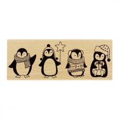 Tampon bois QUATRE PINGOUINS
