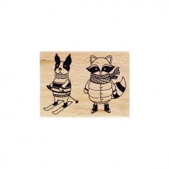 Tampon bois COPAINS D'HIVER par Florilèges Design. Scrapbooking et loisirs créatifs. Livraison rapide et cadeau dans chaque c...