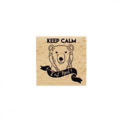Tampon bois KEEP CALM C'EST NOËL par Florilèges Design. Scrapbooking et loisirs créatifs. Livraison rapide et cadeau dans cha...